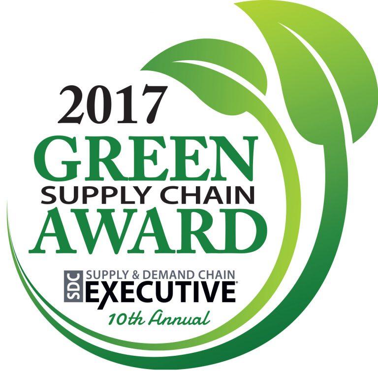 2017 green supply chain award badge
