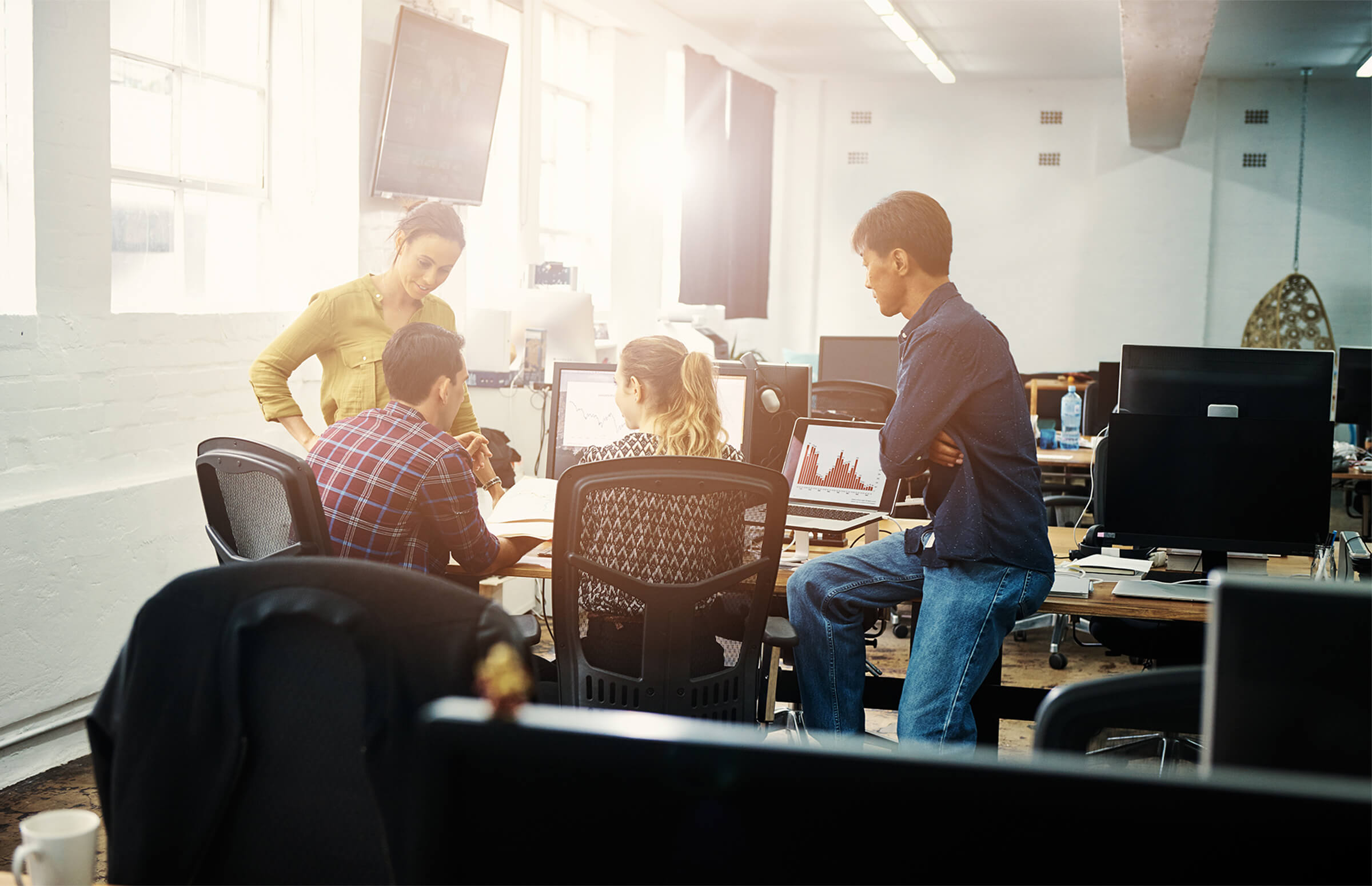 Group of people sitting together in office