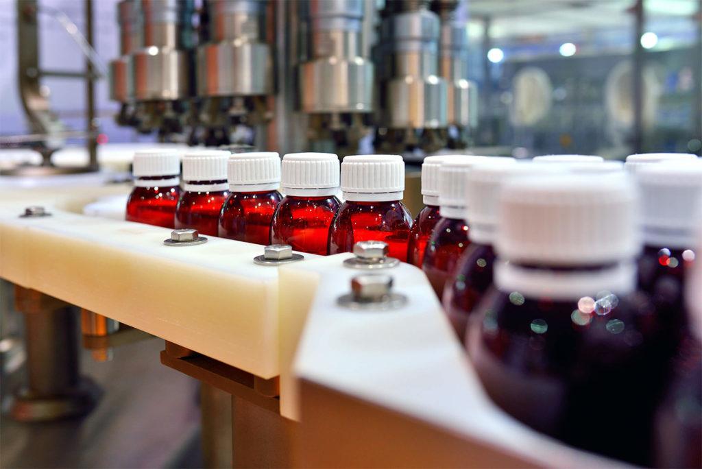 plastic bottling plant assembly line
