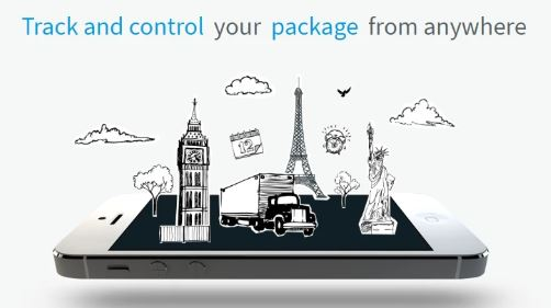 track and control your package from anywhere