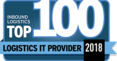 inbound logistics top 100 it provider 2018 badge