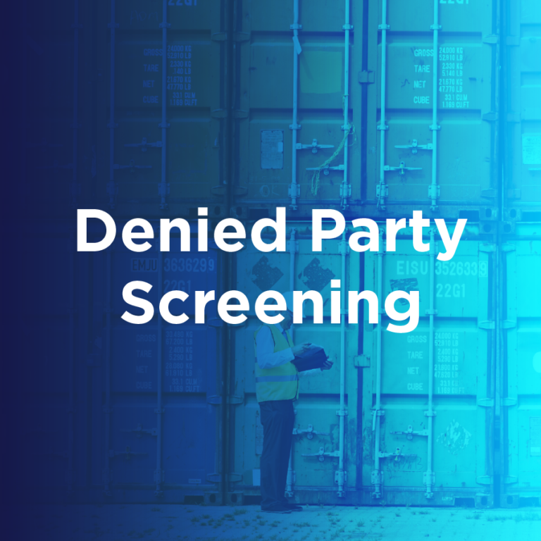 Denied Party Screening