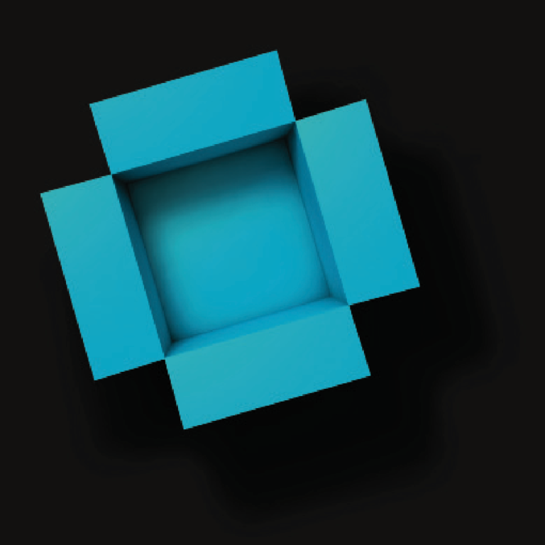 open blue box