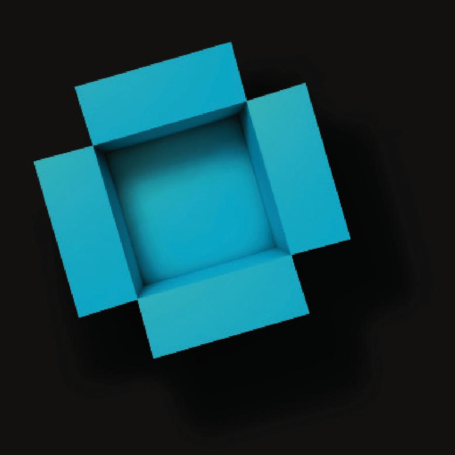 open blue box