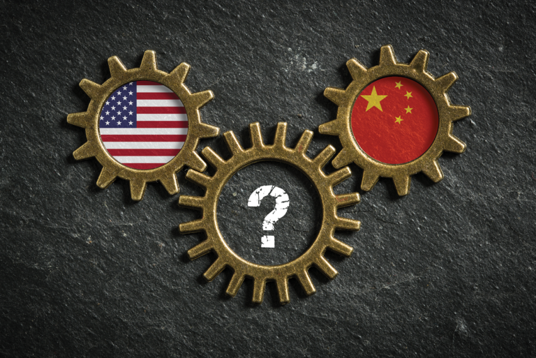 three gears representing the complexity of the USA and China trade war