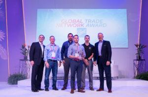 ball team receives global trade network award