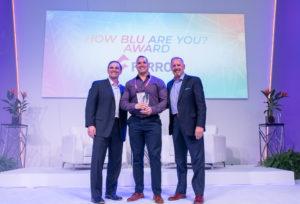 farrow team receives how blu are you award
