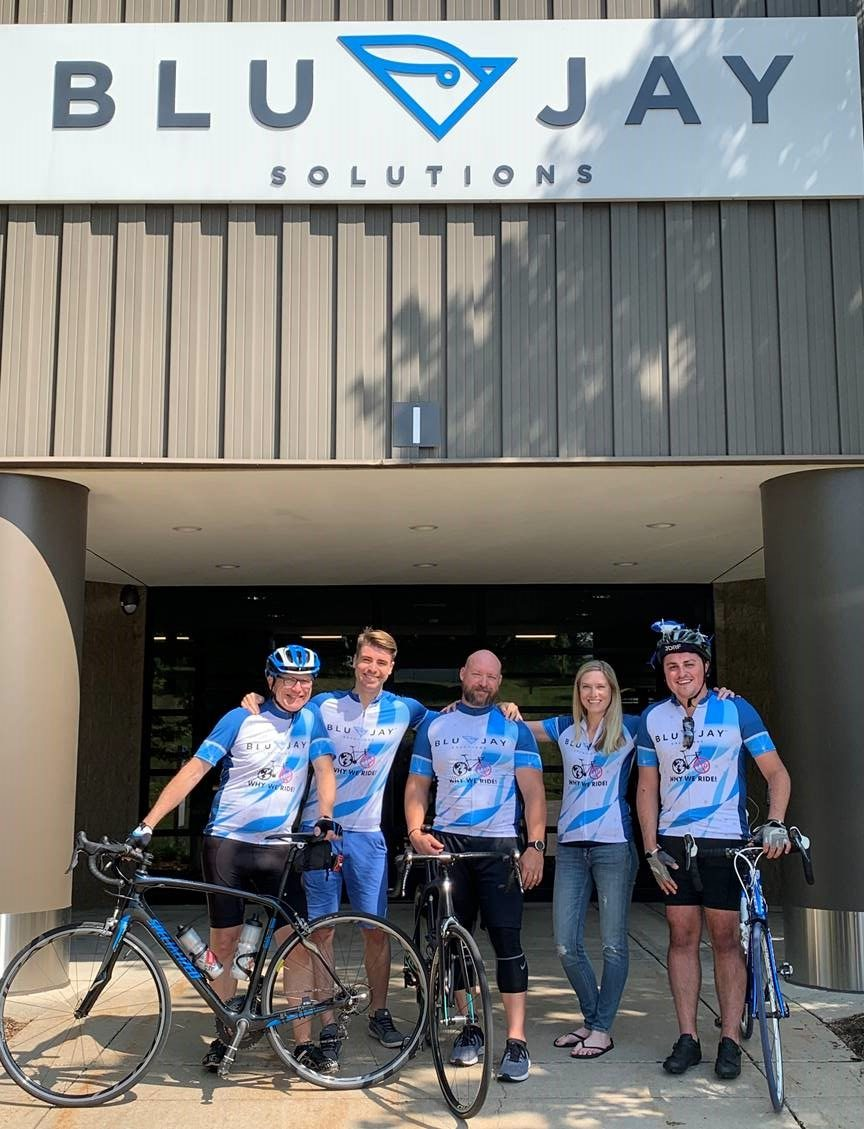 BluJay Solutions - Employee Cyclists Raise Money for Juvenile Diabetes Research Foundation