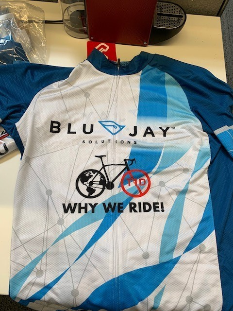 BluJay Solutions - Cyclist Shirt to Support the Juvenile Diabetes Research Foundation