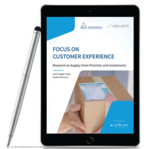 focus on customer experience blujay site displayed on tablet with pen