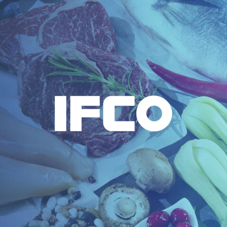 ifco logo over fresh cooking ingredients