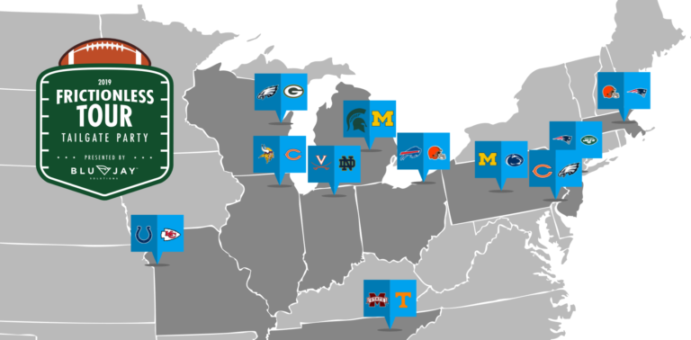 frictionless tour tailgate party locations map
