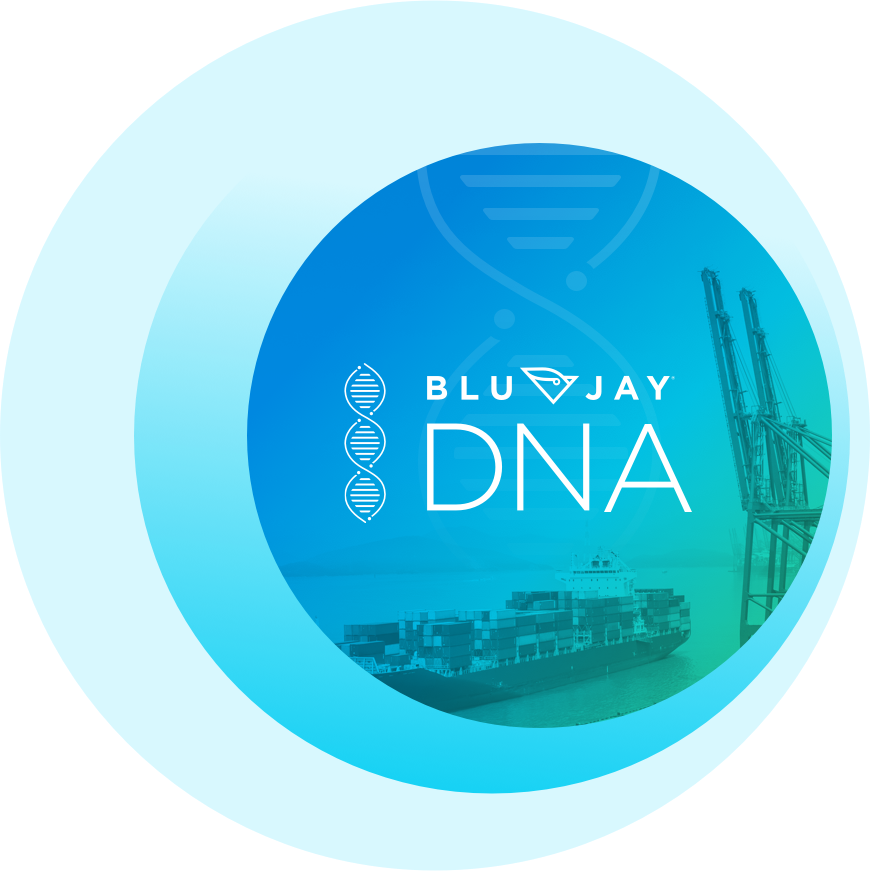 BluJay DNA helix circle graphic